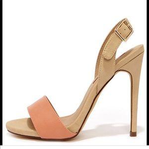 C Label Olive 16 beige heels sandals new 10